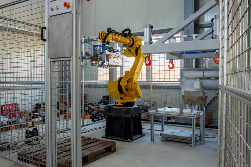 Final installation of the industrial robot