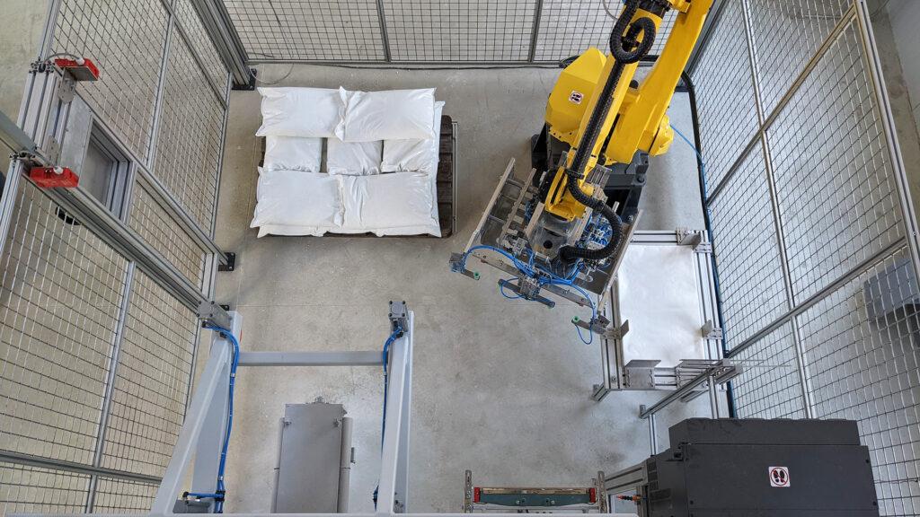 Компактно разположение на роботизираната система